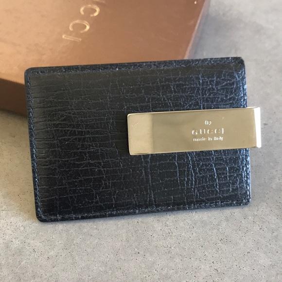 24a77b77 Men's Gucci card case/ money clip NWT
